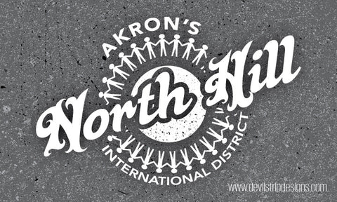 Akron's North Hill Sticker