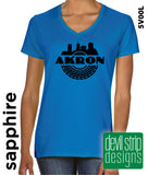 Akron Tire - Ladies V-Neck