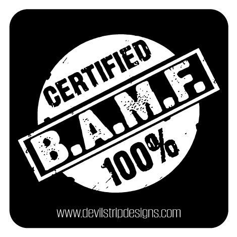 Certified BAMF Sticker