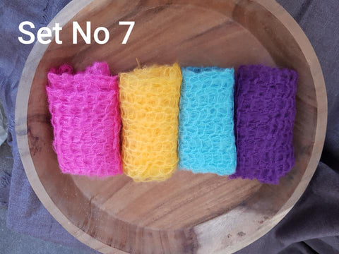 Clearance 4 Mohair Blend Wraps in a Set - Newborn