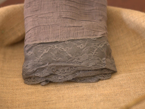 Newborn Layers - Earth Tones with Lace Trim