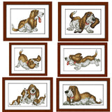 Lovely Pups  Cross-stitch embroidery kit - Pikki Designs