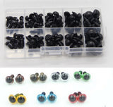 100pc 6-12mm Black Plastic Safety Eyes For Bear, Doll, Animal Toys - Pikki Designs