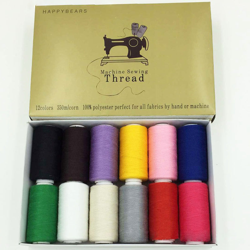 polyester Sewing Threads 350 meters High Strength 12pc/box - Pikki Designs