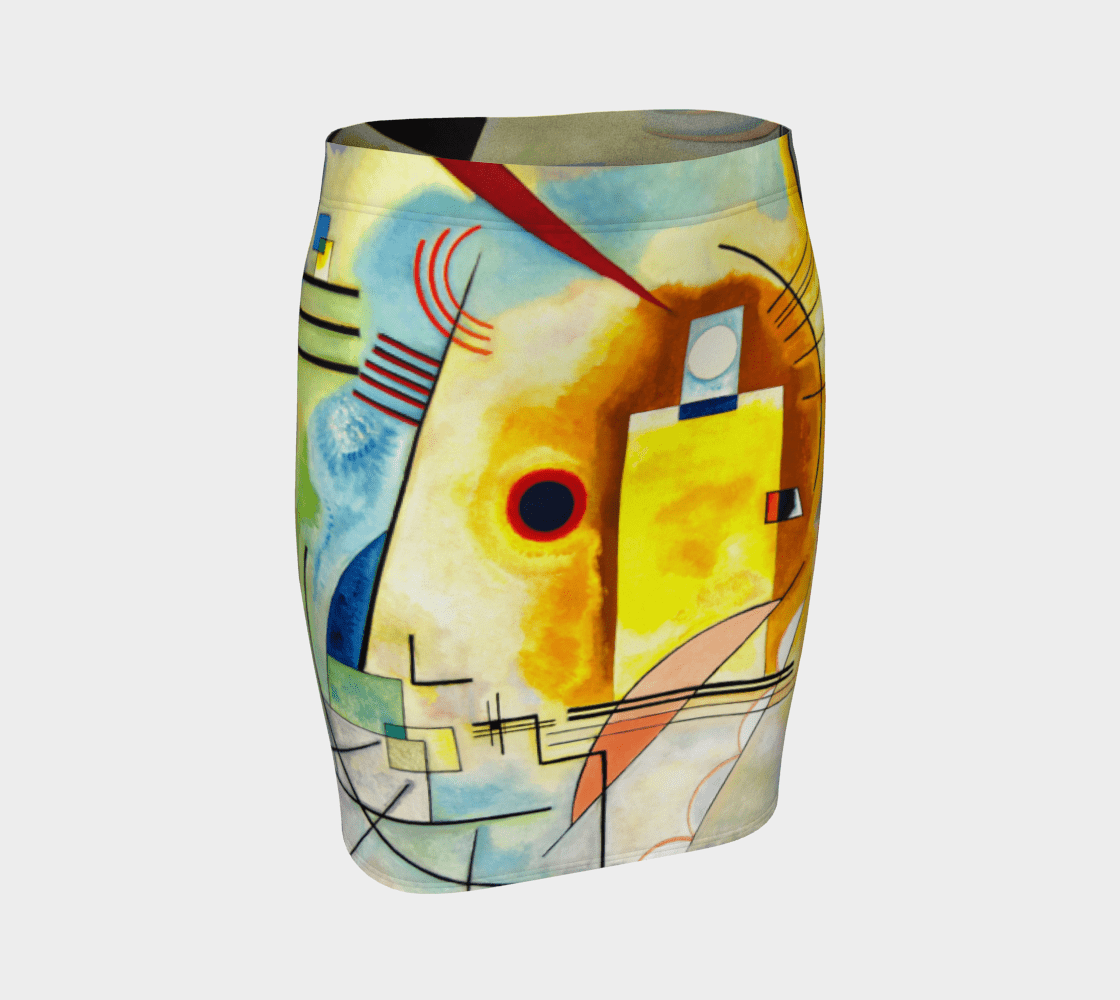 Kandinsky Dragon Am I Bleu Pencil Skirt