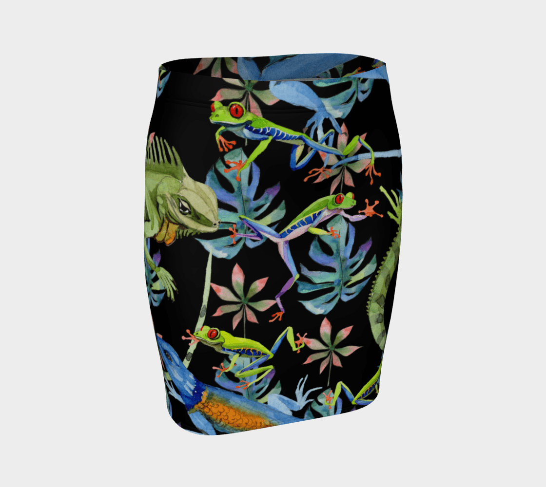 Reptilian Dragon Juana Iguana Pencil Skirt