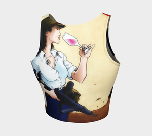 Athleisure Dragon Wine And Sub Workout Crop Top