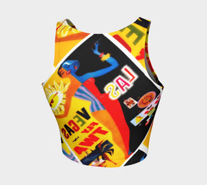 Elvis Dragon Viva Las Athleisure Crop Top