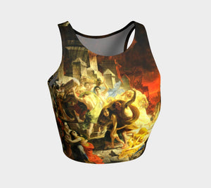 Pompeii Dragon Is It Hot In Here Crop Top