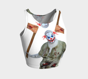 Circus Dragon Beat It Clown Chop Crop Top