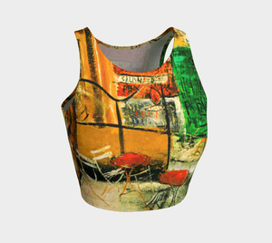 Abstract Dragon Cafe Yuzo Crop Top