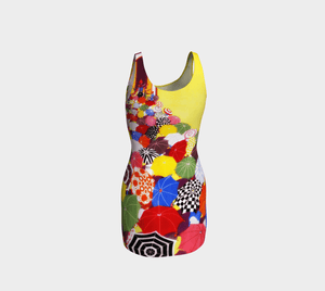 Pina Colada Dragon Little Umbrellas Bodycon
