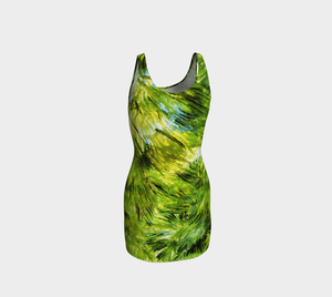 Tropical Dragon Green Grass Bodycon