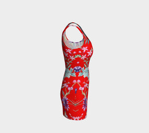 Chinoiserie Dragon Little Red Riding Hood Bodycon