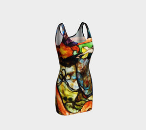 Toulouse Dragon Stained Glass Bodycon
