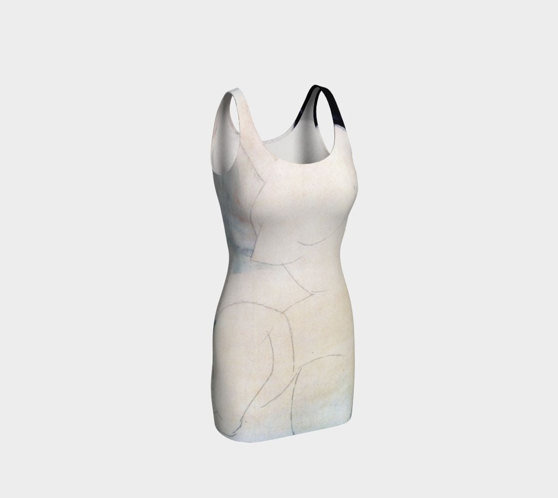 Amedeo Dragon Nude Ghost Bodycon