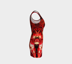 Soap Opera Dragon Boldini And Beautiful Lady In Red Bodycon