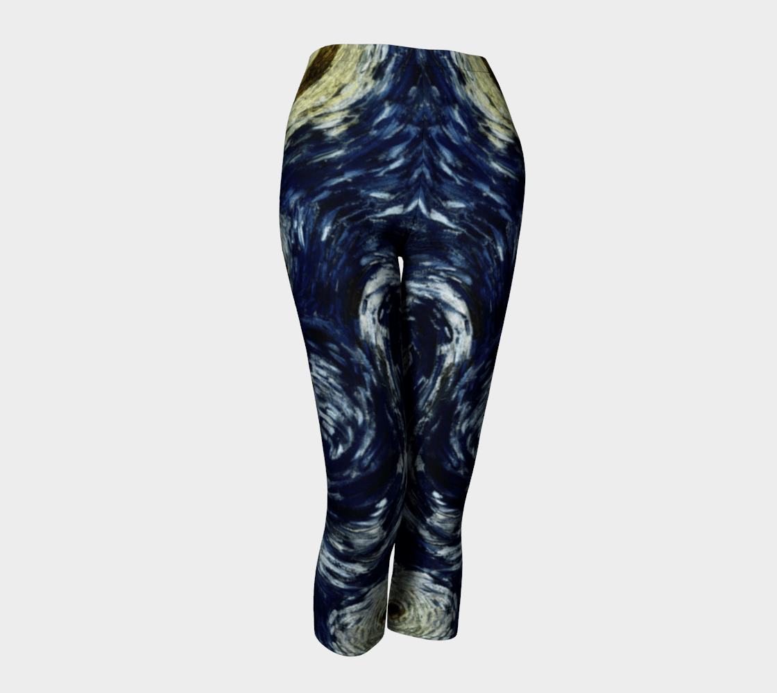 Comet Dragon Starry Night Celestial Capris