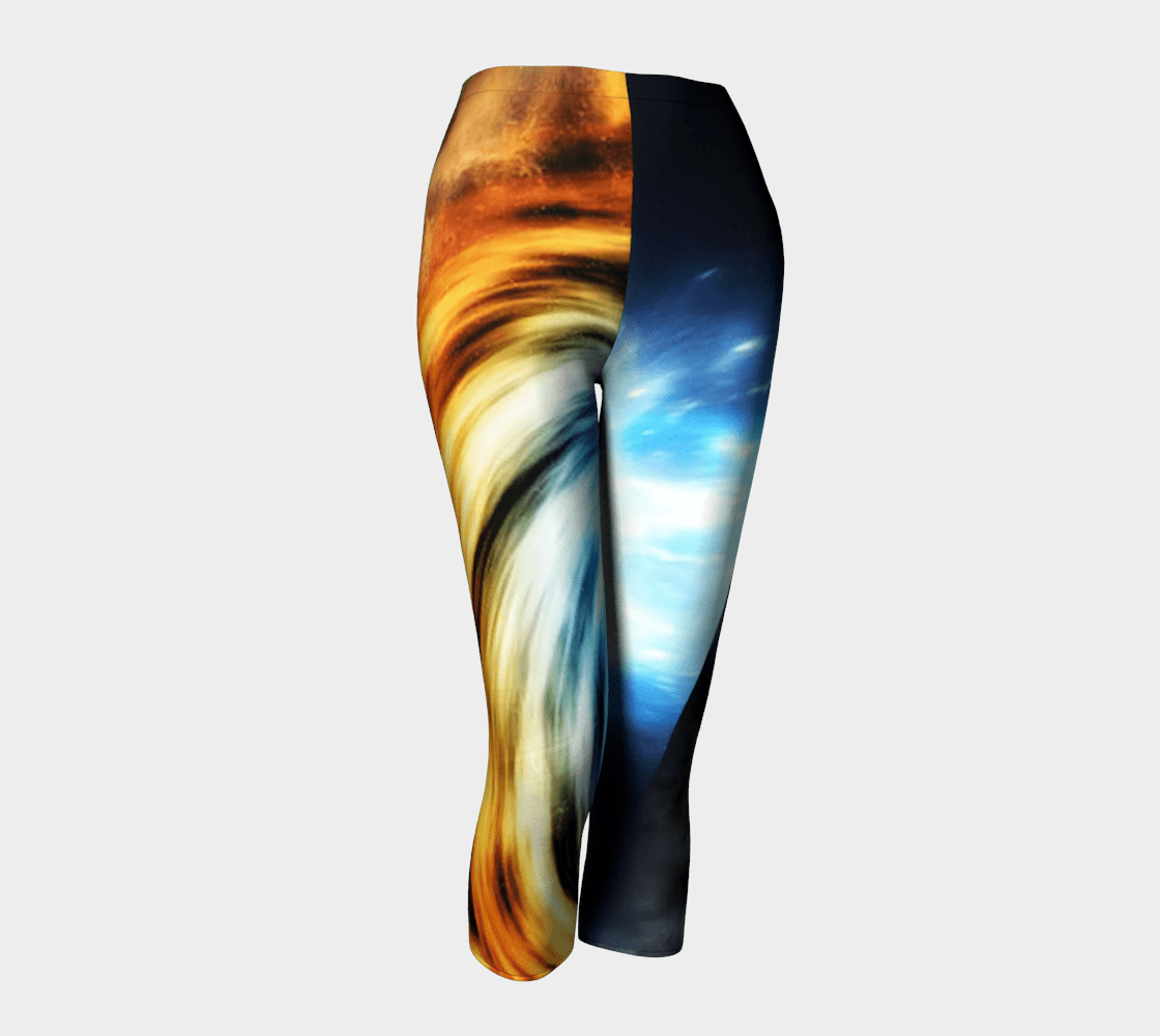 Planet Dragon Cosmic Swirly Cue Capris