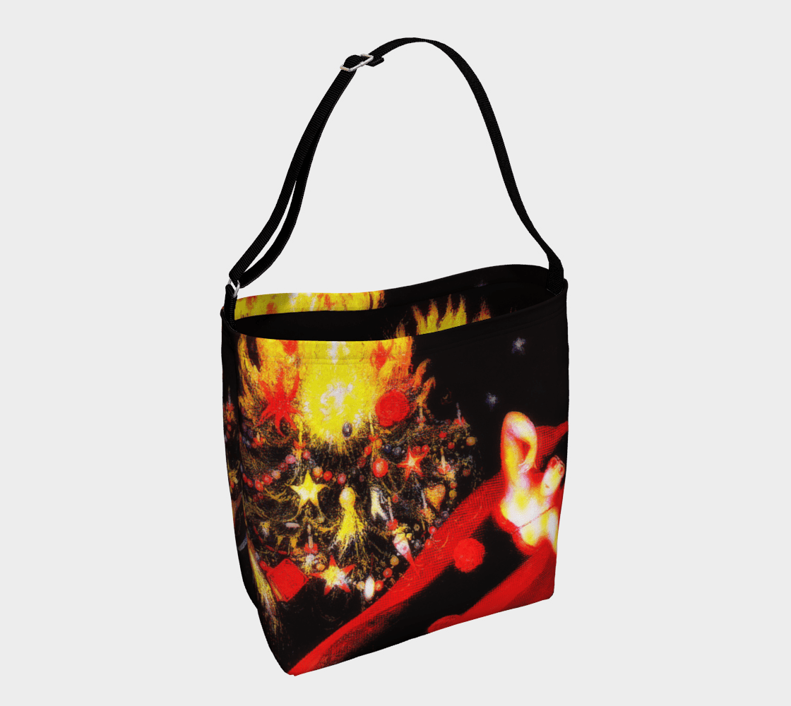 Santa Dragon Laid Back Christmas Tote