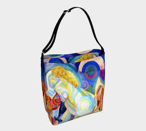 Delaunay Dragon Multitasking Mademoiselle Tote Bag