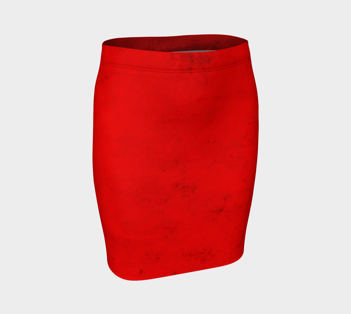 Dragon Little Red Pencil Skirt