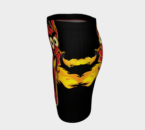 Soyracha Dragon Flaming Fitted Pencil Skirt