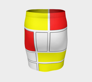 Mondrian Dragon Action Adventure Heroine Pencil Skirt