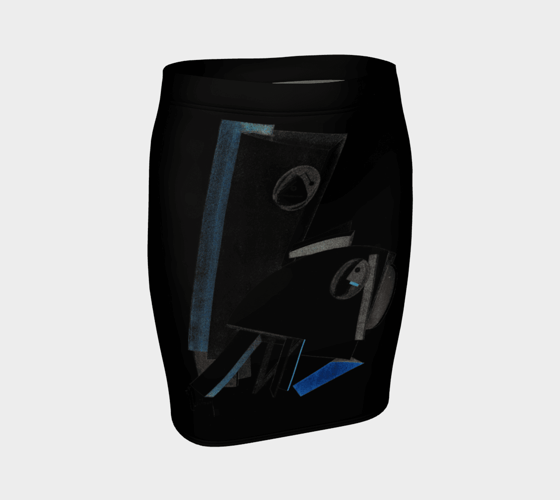 Abstract Dragon Little Black Pencil Skirt