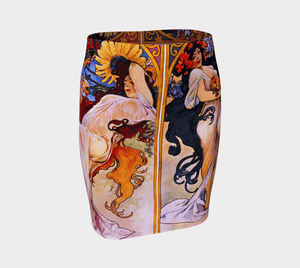 Four Seasons Dragon Spring Into Summer Skirt