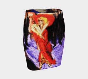 Gigolette Dragon Coquette In Red Mini Skirt