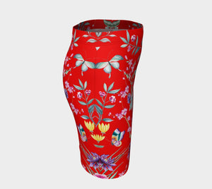 Chinoiserie Dragon Little Red Riding Hood Mini Skirt