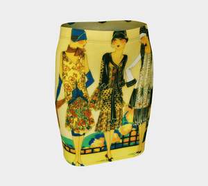 Nice Girls Dragon Three Amigas Pencil Skirt