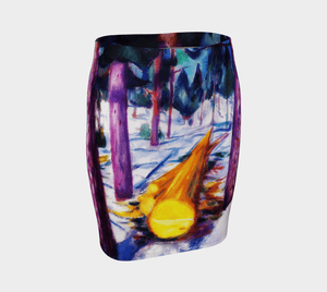 Edvard Dragon Log Valks In The Voods Pencil Skirt