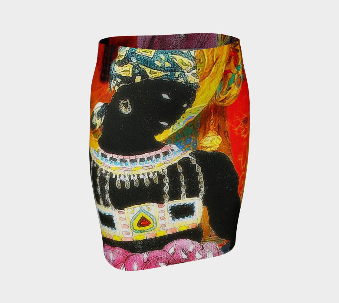 King Leon Dragon Bakst In The Glow Pencil Skirt