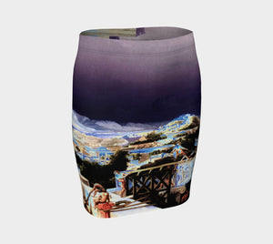 Demosthenes Dragon Hellenistic Behind The Acropolis Pencil Skirt