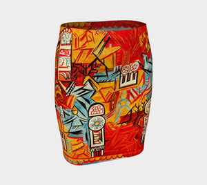 Cuban Pete Dragon Cubo Futuro Pencil Skirt