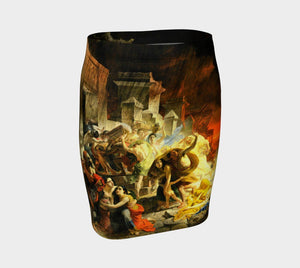 Pompeii Dragon Hotter Than Lava Pencil Skirt