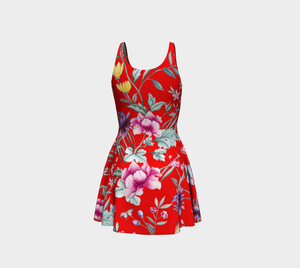 Chinoiserie Dragon Little Red Riding Hood Cocktail Dress
