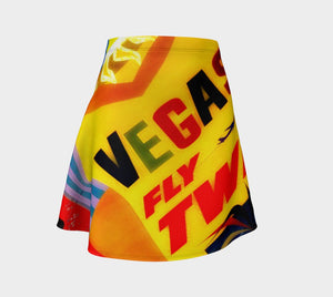 Elvis Dragon Viva Las Skater Skirt