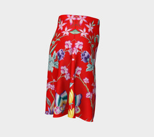 Chinoiserie Dragon Little Red Riding Hood Flare
