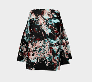Jackson Dragon Paint Spatter Skater Skirt