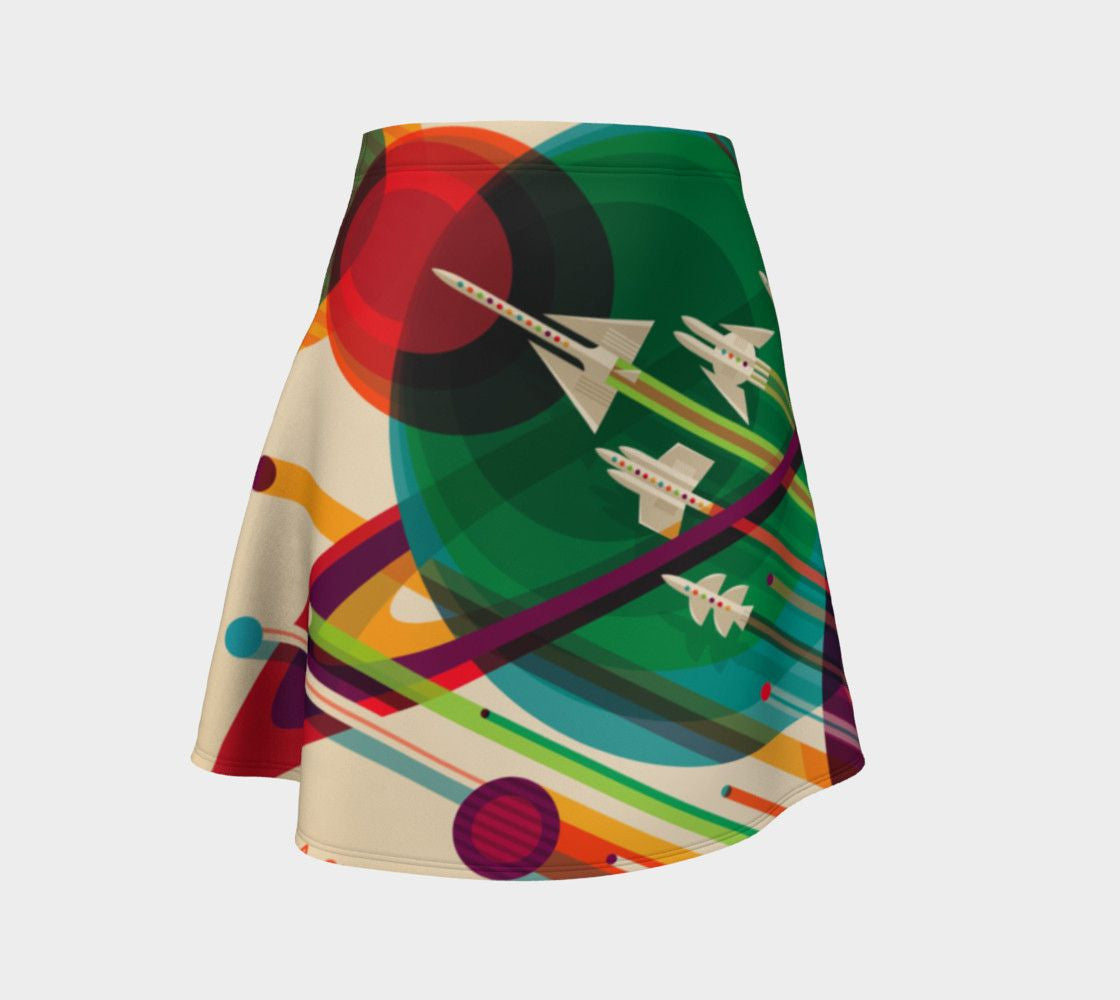 Cassini Dragon Space Girl Squad Skater Skirt