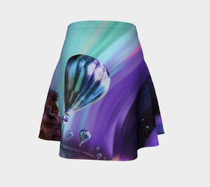 Cassini Dragon In My Beautiful Space Winds Balloon Skater Skirt