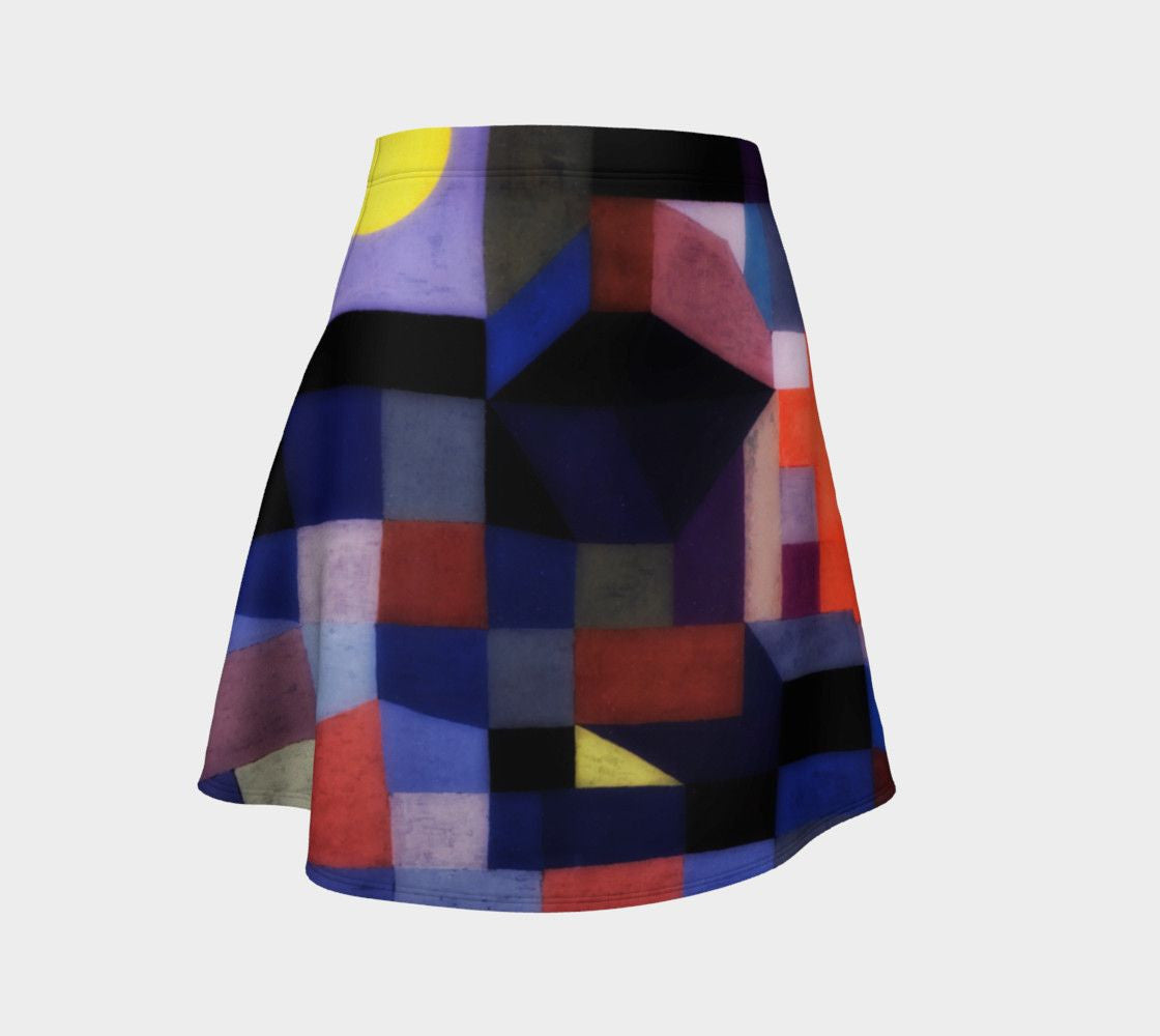 Abstract Dragon Harvest Moon Mini Skirt
