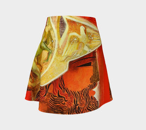 Demosthenes Dragon Hellenistic Skater Skirt