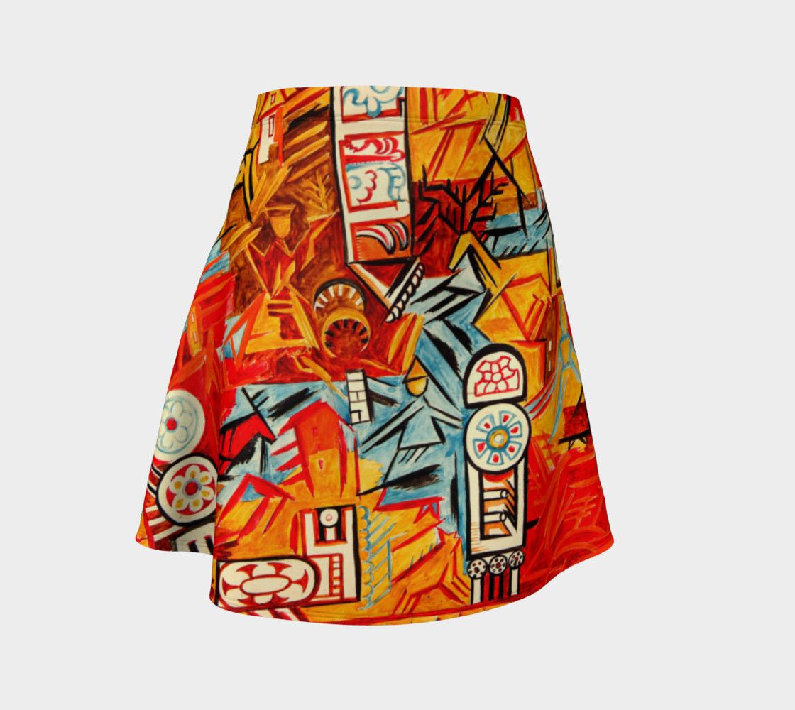 Cuban Pete Dragon Cubo Futuro Skater Skirt
