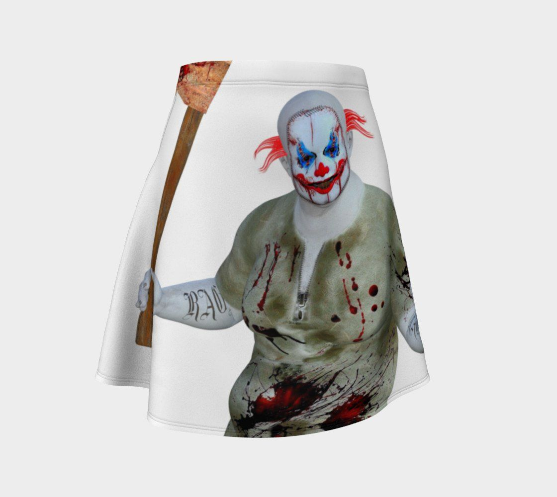 Circus Dragon Beat It Clown Skater Skirt