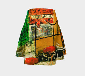 Abstract Dragon Cafe Yuzo Skater Skirt