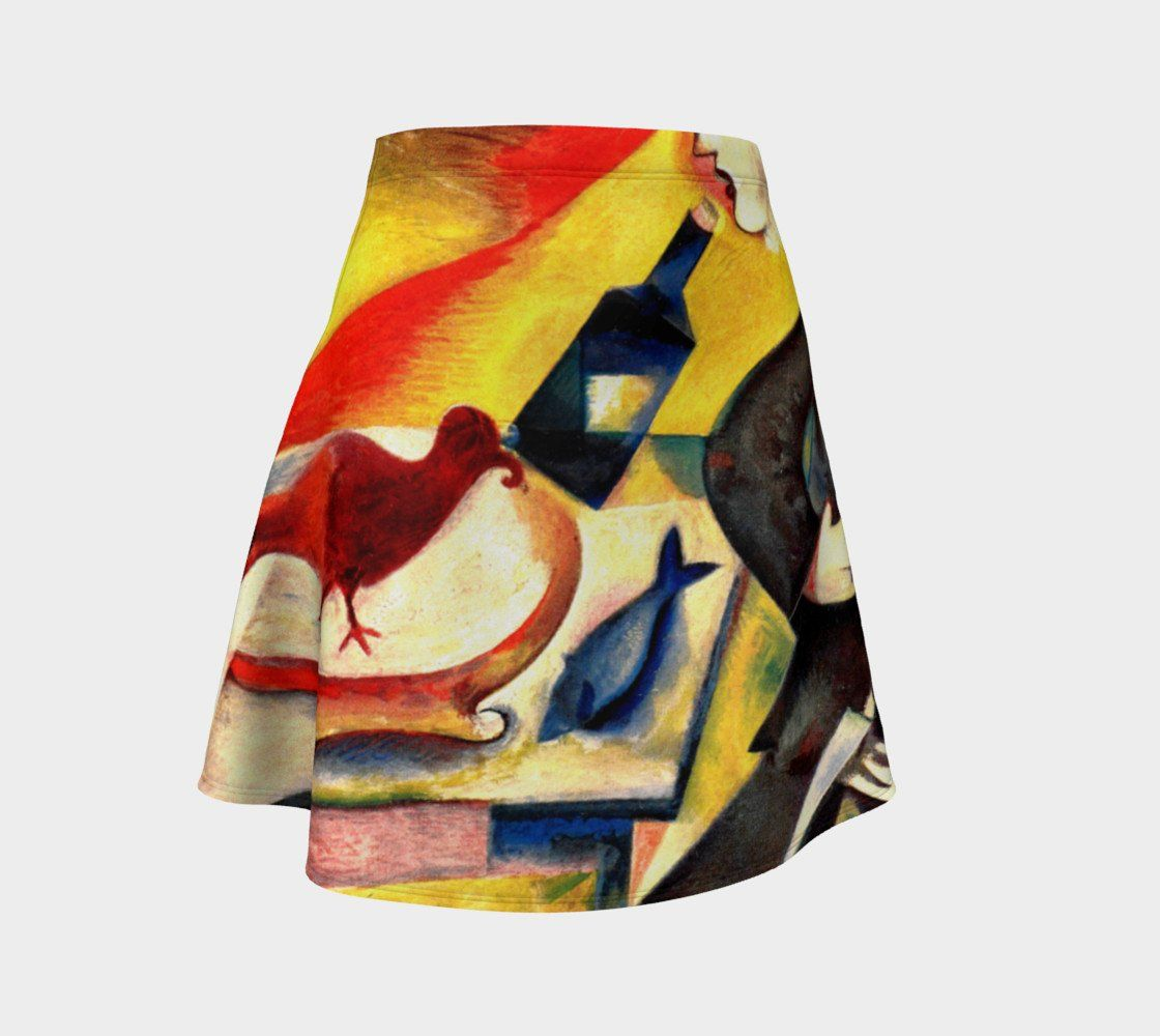 Chagall Dragon Someday My Prince Will Come Skater Skirt Flare